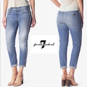 7 For All Mankind Josefina Raw Side Seam Jeans, 29